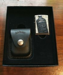 Zippo Gift Set Jackdaniels Tennesse Whiskey Lighter With Jack Daniels Pouch 2009