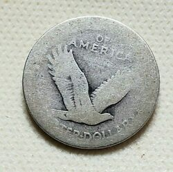 1917 Type-1 25c Standing Liberty Silver Quarter, Ag, No Stars, Collector Coin