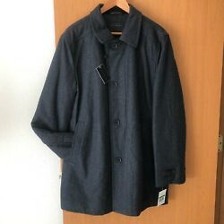 Menand039s Ike Behar Seville Classic-fit Charcoal Top Coat Size Large
