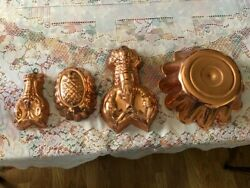 Copral Portugal Copper Jello Molds Easy To Hang And Display