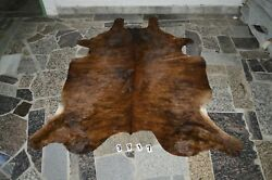 Brindle Dark - Rug Hair On Skin Leather Cowhide 3817 -- 78and039and039 X 65and039and039