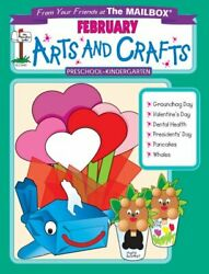 February Monthly Arts And Crafts By Mailbox Books Staff Brand New