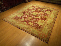 8 X 10 Hand Knotted Hanmade Oushak Rug _veggie Dyes Hand Spun Soft Wool 3052
