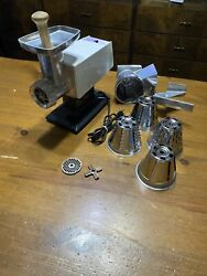 Vintage Rival Meat Salad Grind-o-matic Model 2100m-1 Electric W/ Attachments