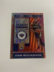 2019-20 Contenders Optic Tmall Asia Zion Williamson Red Wave Rookie Rc Pelicans