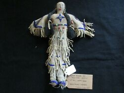 Native American Beaded Leather Doll, Authentic South Dakota Doll Sd-082105754