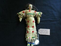 Native American Beaded Leather Doll Authentic South Dakota Doll Sd-082105724