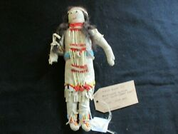 Native American Beaded Leather Doll Authentic South Dakota Doll Sd-082105727
