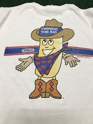 Twinkie The Kid Mens T Shirt Xl Jerzees Distressed Holes Vtg 90s Snack Tee