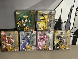 Rare Mighty Morphin Power Rangers Team S.h Figurarts Sdcc Mmpr With Autographs