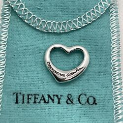 And Co Paloma Picasso 925 Sterling Silver Open Heart Pendant.