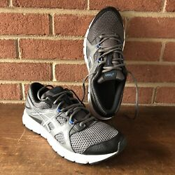 New Asics Gel Unifire Menand039s Size 9 Sneakers Charcoal Silver Black T51ak