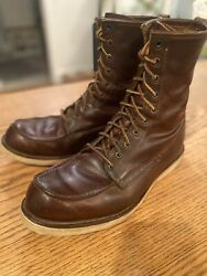 Vintage Red Wing Mens Irish Setter Sport Boots 11.5 D Fashion Hipster Raw Denim