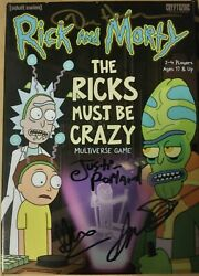 Rick And Morty Cast Signed Game Sdcc 2019 The Ricks Must Be Crazy
