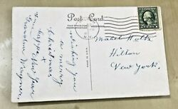 Antique Postcard With George Washington 1 Cent Stamp - Postmarked Early 1900's