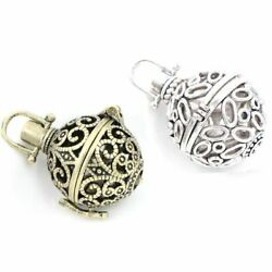 Charm Necklace Pendants Lockets Filigree Lucky Magic Box Antique Jewelry Finding
