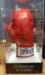Boxing Glove Signed By Mike Tyson In Led Lit Display Box 100 Authentic With Coa