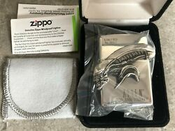 Japanese Zippo Solid Sterling Silver Aliens Xenomorph Head - Limited Ed Of 1000