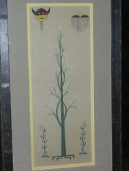 Vintage Native American Painting By Unsigned Artist- Possibly Acee Blue Eagle-