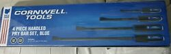 New Condition Cornwell Tools 4 Piece Handled Pry Bar Set Blue Pbh4cst