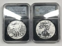 2013 West Point Silver Eagle Set - Ngc Pf69 Sp69 - Reverse Proof And Enhanced Unc