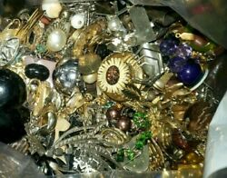 Unsorted Jewelry Vintage Modern Huge Lot Junk Craft Box Full 3 Pounds Piece Part