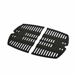 Cast Iron Grill Cooking Grates Grid 2 Pack For Weber Q100 Q1000 Q1200