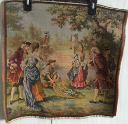 NEW Wall Tapestry Hanging Art Belgium Antique Victorian 19in W x19in H