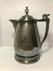 Antique Meriden B Company Victorian Insulated Ice Water Pitcher With Polar Bear