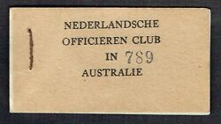 Netherlands Indies 3d 6d 9d + Chit Book 1943 Military Canteen Money Indonesia