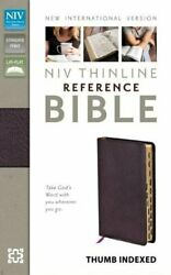 Niv, Thinline Reference Bible, Bonded Leather, Burgundy, By Zondervan Mint