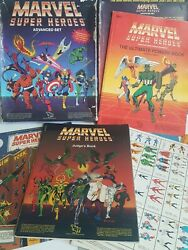 Marvel Super Heroes Advanced Set Tsr 1986 Game Shows Wear No Crayons Or Dice