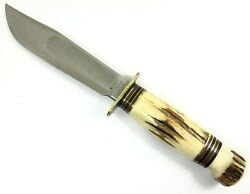 Marble's 5 Ideal Knife Stag Handles And Pommel Large Nut Vintage 6070-mxx