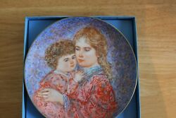 8 Edna Hibel Mother's Day Tribute Ceramic Plates By Knowles/1984-1991