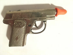 Vintage Hubley Dick Tracy 4 Roll Type Cap Gun With Holster 1940's - 50's