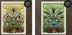 Billy Strings Thornville Oh 2021 Poster Set By Schmitt S/n Ae X/60 Legend Valley