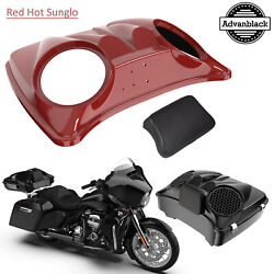 Red Hot Sunglo 8and039and039 Speaker Lids For Advanblack/harley Chopped Tour Pak Pack