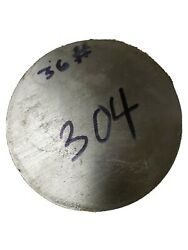 6 5/8 Diameter 304 Stainless Steel Round Bar / Rod - 6.625 X 3and5/8 Length