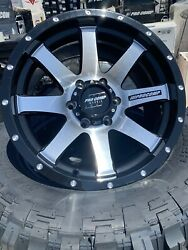 4 17x9 Pro Comp Gloss Black Machined Face Off-road Rims Chevy Gmc Toyota Tahoe