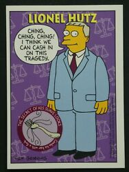 1994 Skybox / Bongo The Simpsons Trading Card - Lionel Hutz - S31