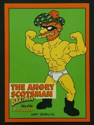 1994 Skybox The Simpsons Bartman Trading Card - The Angry Scotsman - B5