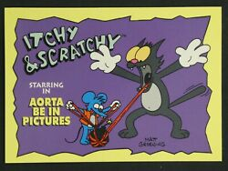 1994 Skybox The Simpsons Itchy And Scratchy Trading Card Aorta Be In Pictures I9
