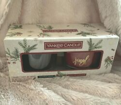 Yankee Candle 3 Wick 2 Pack Holiday Gift Set Balsam and Cedar Cinnamon Christmas