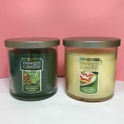 Yankee Candle 2 Small Tumbler Candles Balsam amp; Cedar Christmas Cookie FREE SHIP
