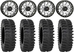 System 3 Sb-3 Machined 15 Wheels 33 Xt400 Tires Can-am Renegade Outlander