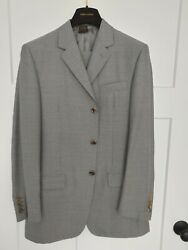 Authentic Louis Vuitton Gray Wool/silk Suit Size 48 New With Tags