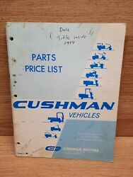 Cushman Vehicles 1970 Parts And Price List Loaded With Part Numbers