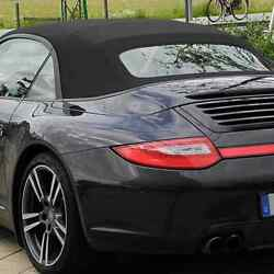Convertible Top For 2012-2019 Porsche 911 With Heated Glass Window Black German