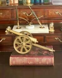 Vintage Solid Brass Cannon Model Unique Addition For Office Home Decor