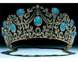 Party Wear Vintage Reproduction 18.32ct. Rose Cut Diamond Silver Crown I109